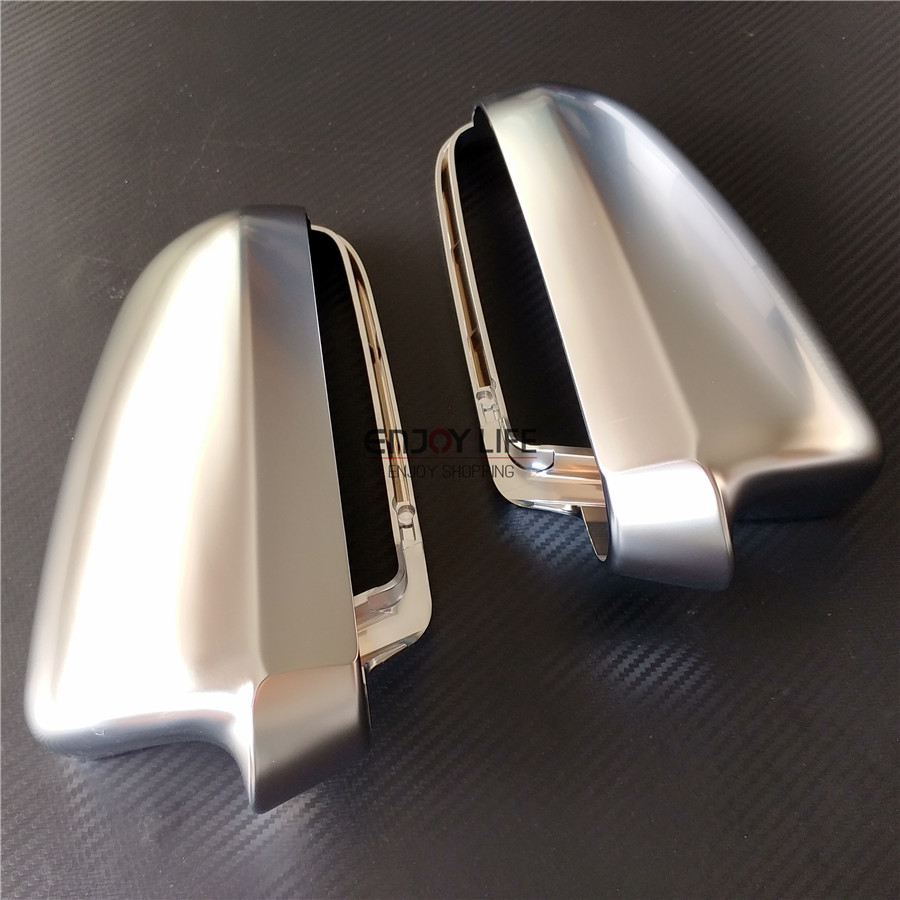 Silver ABS Chrome Replace Car Side Wing Rear View Rearview Mirror Cover Cap Trim For Audi A6 S6 C6 4F 2004-2008 накладки на пороги audi a6 c6 2004 carbon