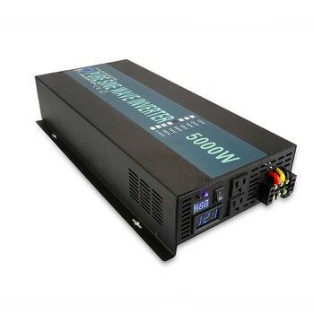 Hot Sale 5000W Solar Power Inverter 24V to 220V Pure Sine Wave Inverter 12V/24V/48V/72V DC to 120V/230V/240V AC Remote Control 4