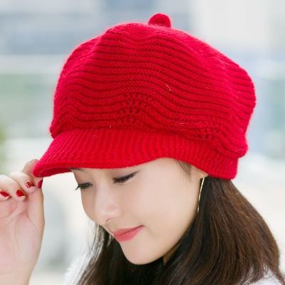 Winter Beret Women Warm...