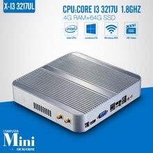 Mini pc I3 3217U 4G RAM+64G SSD+WIFI Industrial Mini PC Tablet Computer Desktop Computer Fanless Box PC Thin Clients