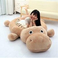 Fancytrader большой Животные Бегемот Тигр утка собака татами кровать Фаршированная Аниме Игрушечные лошадки Ковры 200 см x 100 см