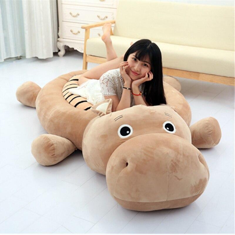 Fancytrader Grands Animaux Hippopotame Tigre Canard Chien Tatami Lit En Peluche Anime Jouets Tapis 200 cm X 100 cm