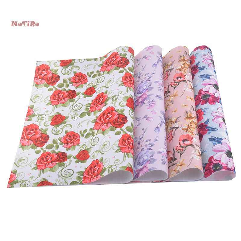 MoTiRo,NonWoven Felt fabric Thick,Floral Pattern Felt Fabric For Kids,Printed Polyester Felting for DIY Craft Handmade,40*45cm