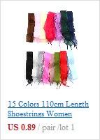 1 пара 8 цветов вощенный шнур Цветные шнурки для кожаная обувь со шнуровкой струны ботинки martin спортивная обувь шнур веревочки Лидер продаж
