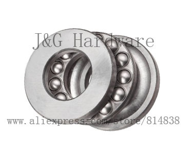 Bearing Supplies Thrust Ball Bearing Sizes 5 x 10 x 4 Miniature Thrust Bearing