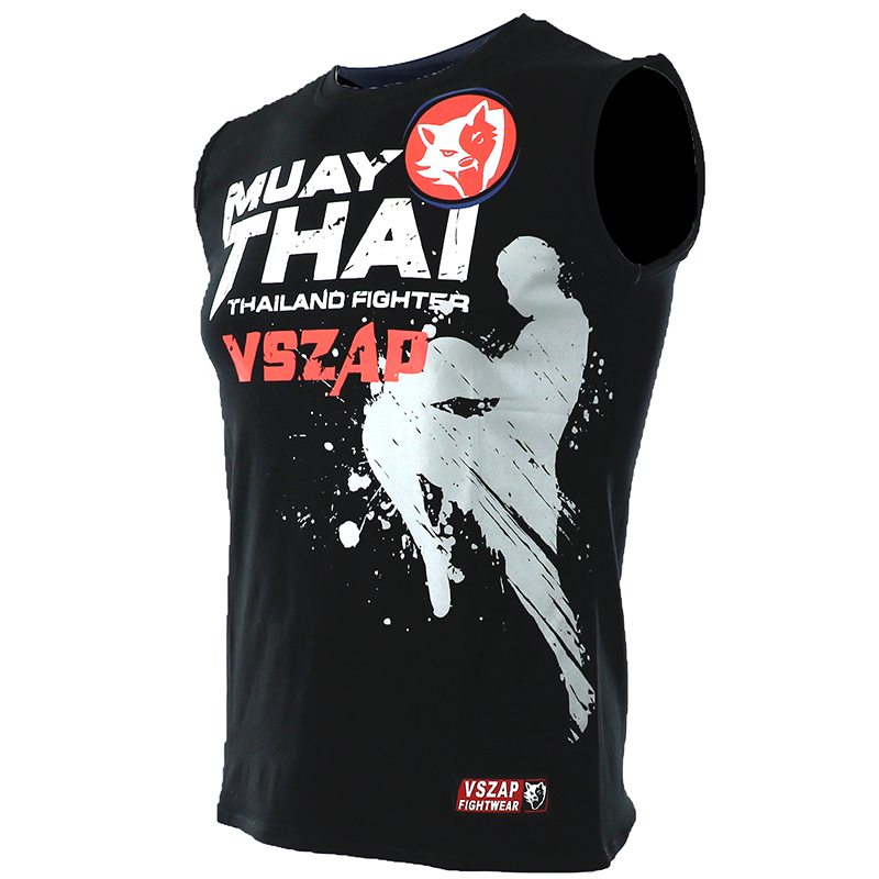 NEWBoxing T Shirt  FIGHTERS VSZAP Men MMA Gym Kickboxing Muay Thai Boxing Training Cotton Breathable Mma Shorts Fight Pant