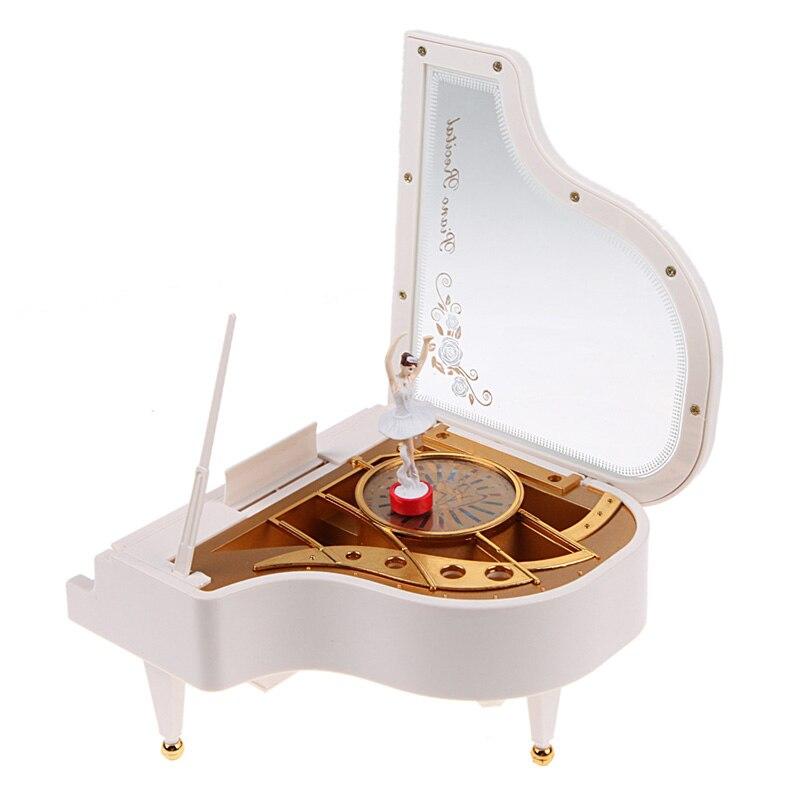 Boîtes À musique Clockwork Type Rotatif Classique Ballerine Fille Sur Le Piano pour Enfants d'anniversaire Cadeaux Figurines et Miniatures