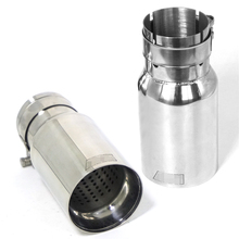 2Pcs  Stainless steel Car Exhaust End Tips Auto Tail Pipe Muffler 2.5 in 3.15 out Universal With Logo