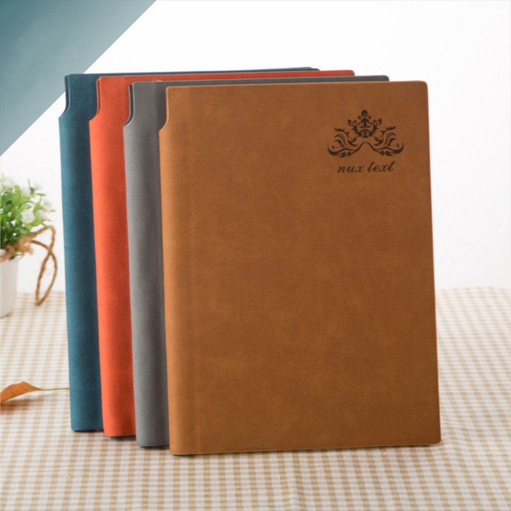 2017 creative leather with pen Inserted scheduler personal diary daily memo notebook sketchbooks for school office accessories stylish memo pad scheduler about 160 page