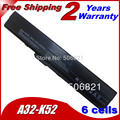 JIGU 6Cells Replacement Laptop Battery For Asus K42 K52 k52j A31-K52 A32-K52 A41-K52 A42-K52 B53 A31-B53 11.1V 5200MAH