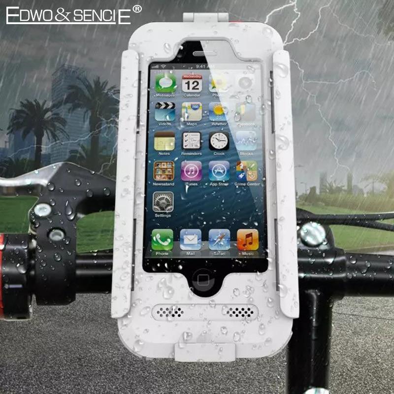 EDWO Waterproof Phone Case For Apple <font><b>iphone</b></font> 6 6s 7 plus 5 5s SE Bicycle Bike Motorcycle Handlebar Top Front Mount Bracket Holder