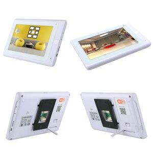 """Image 3 - Yobang Security 7 """"przewodowy/bezprzewodowy wideodzwonek wifi domofon z odciskiem palca hasło rfid IR CUT kamera hd"""