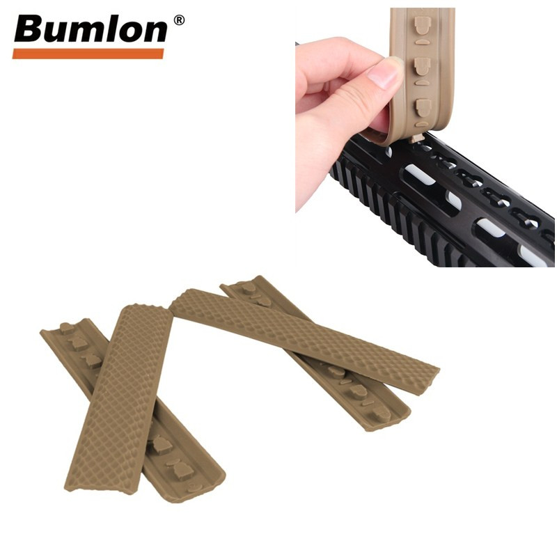 Keymod Rail Rubber Panel Soft Textured Covers Anti skip Handguard Protector Tatical Hunting Accessories 4 Pcs lot RL37 0064 in Hunting Gun Accessories from Sports Entertainment