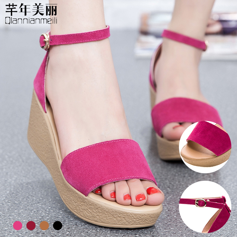 b6aa432003dbf Superior Quality Summer style comfortable Bohemian Wedges Women sandals for Lady  shoes high platform open toe flip flops Plus-in Middle Heels from Shoes on  ...
