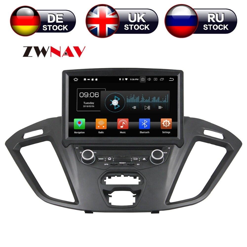 Android 8.0 4 + 32g Voiture Lecteur DVD GPS navigation Pour Ford Transit Coutume 2016 headunit multimédia CD lecteur magnétophone