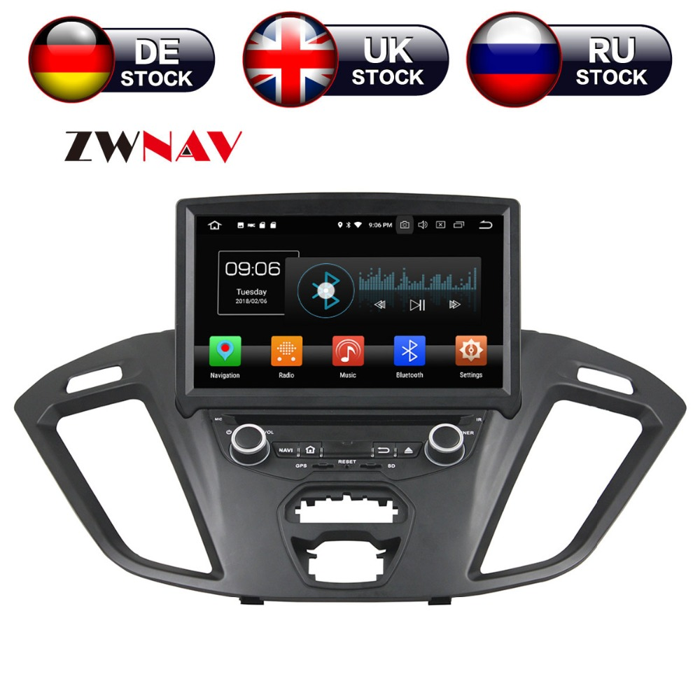 Android 9.0 4+32G Car DVD Player GPS navigation For Ford Transit Custom 2016 headunit multimedia CD player tape recorder