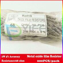 Новинка! (200 шт./лот) 68 Ом 2 Вт 5% углерода Плёнки резистор