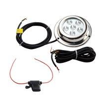 Heißer Verkauf 6*3 watt Weiß Edelstahl IP68 Wasserdichte LED Marine Unterwasserbeleuchtung Boot Yacht licht