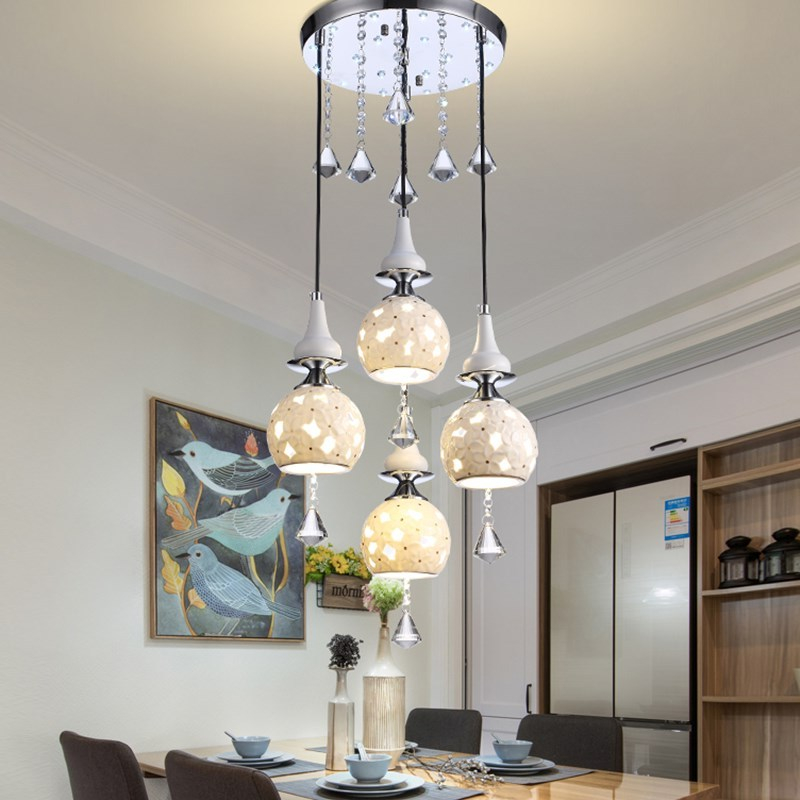 simple 3/4head pendant light restaurants lights creative living room lights personalized meal crystal pendant lamps ZA9281123|hanging pendant lamps|pendant lamp|lighting restaurants - title=