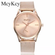 Hot Sale McyKcy Women Watches Popular Stainless Steel Quartz Simple Wristwatches Gold Silver Mesh Band Dress Watch Drop Shipping