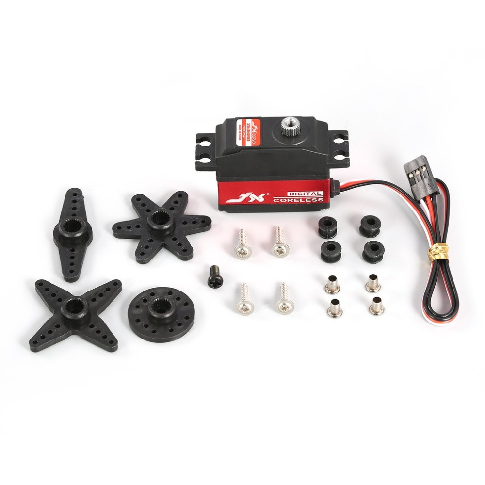 JX PDI-2506MG 25g Metal Gear Digital Servo Motor sin núcleo para RC 450 500 helicóptero Avión de ala fija