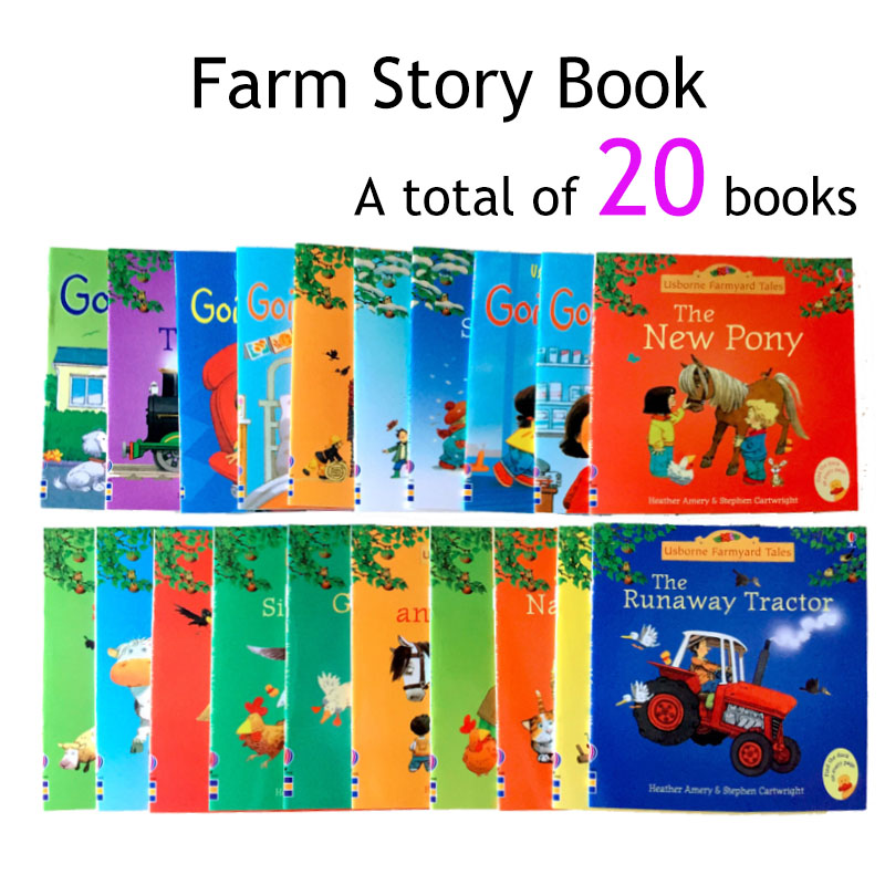 20 Books/Set Early childhood education picture book Usborne baby famous English book farmer story story Eary education