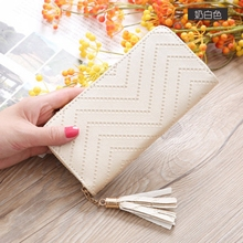 Simple personality ladies wallet long clutch bag student zipper mobile phone sets new trend