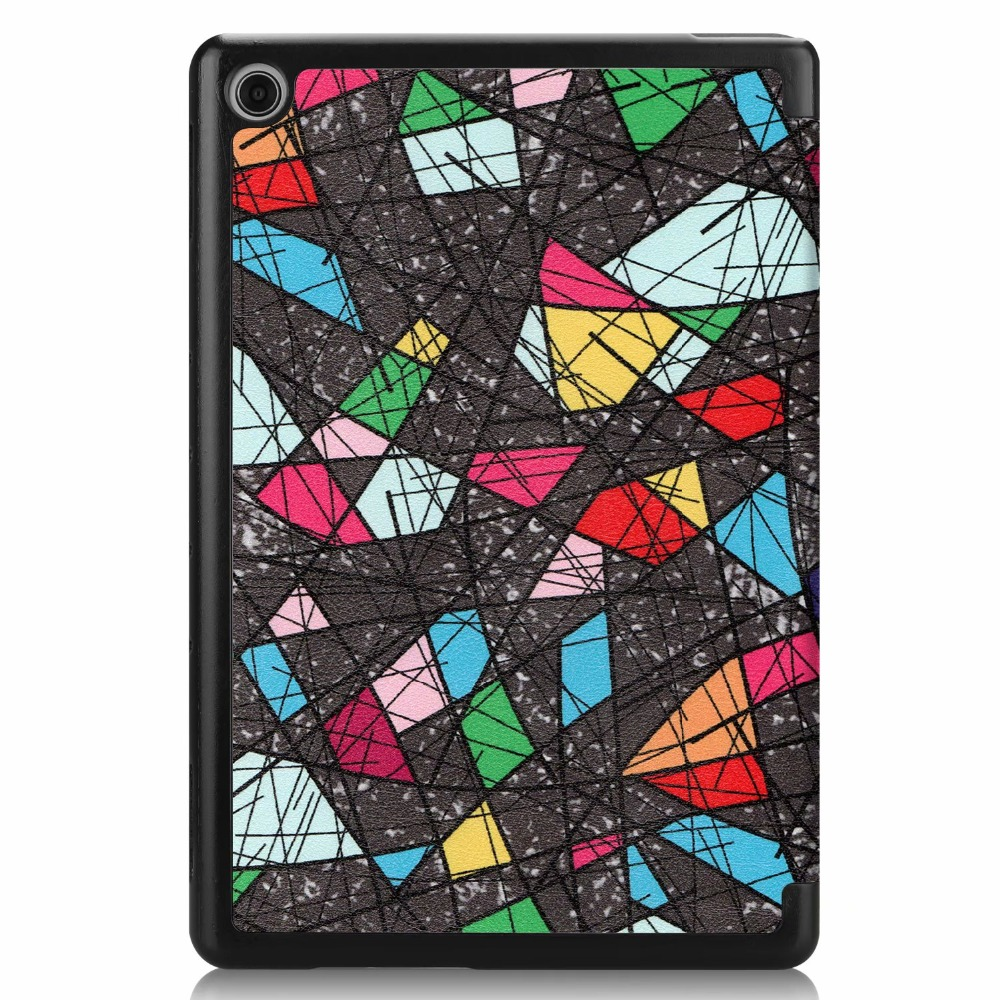 Painted Case For Huawei Mediapad T5 10'' AGS2-W09/L09/L03/W19 Flip Cover For Huawei Mediapad T5 10 Inch Tablet 10.1