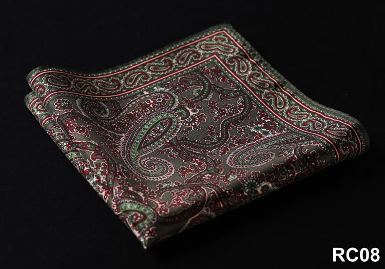 RC08 HN10G Green Red Paisley 35cm