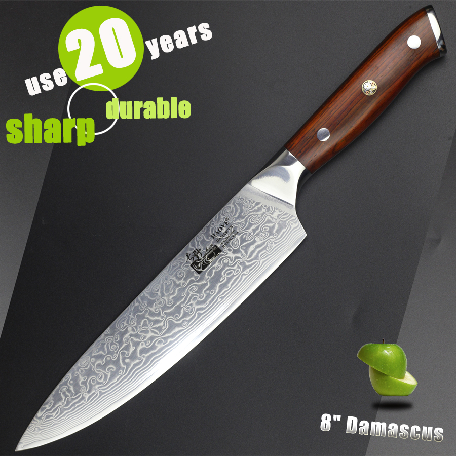 Uncategorized Luxury Kitchen Knives online get cheap luxury knife aliexpress com alibaba group 8 inch damascus chef japanese kitchen knives vg10 super steel sharp durable cutlery real wood handle gift 2017 new