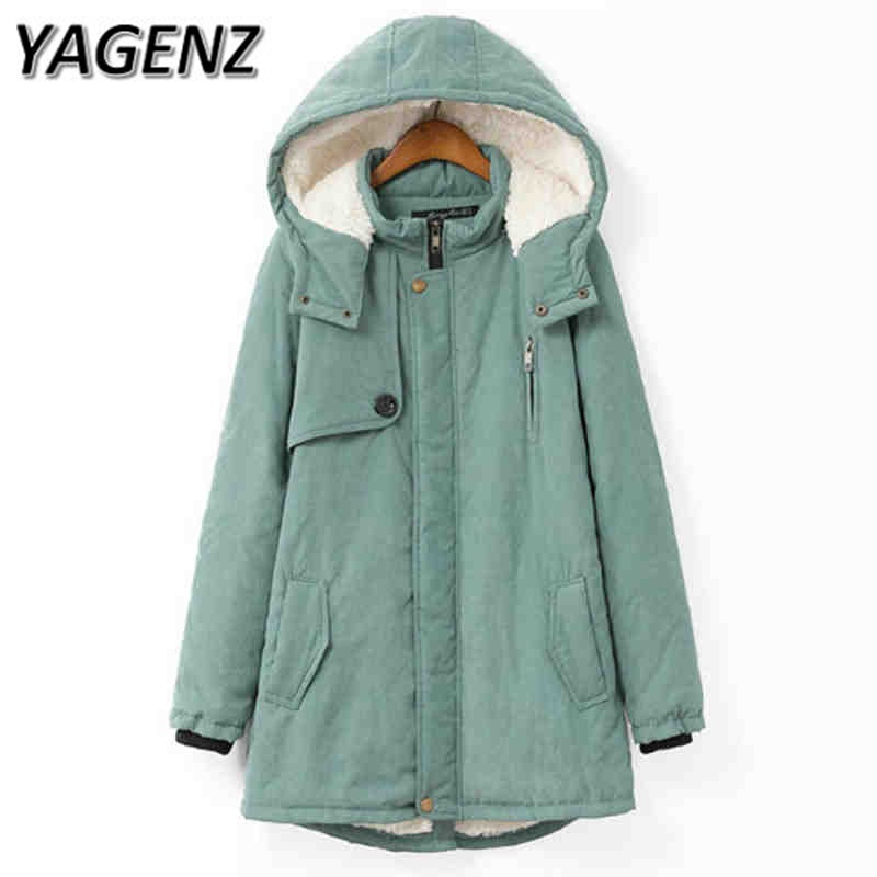 Large size Winter Jacket Hooded Coat Women Clothing Korean Loose Thick Lamb Wool Coat Solid Casual Warm Cotton Female Coats 4XL korean winter jacket women large size long coat female snow wear cotton parkas hooded thick warm coats and jackets 7 colors