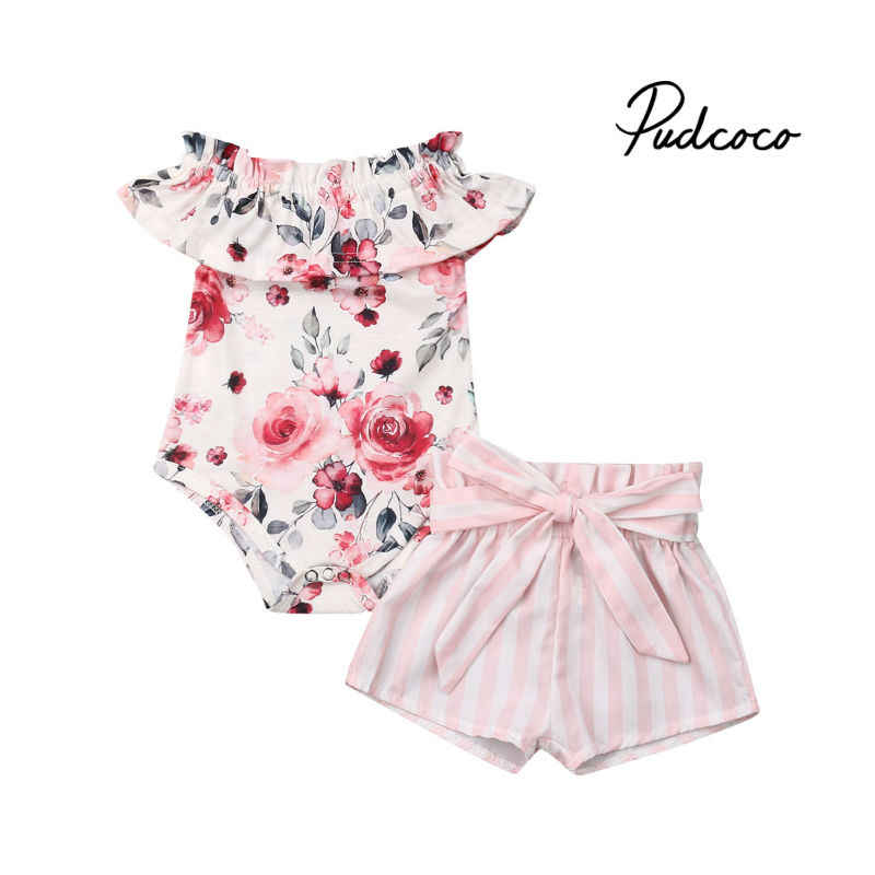 Newborn Infant Baby Girls Sleeveless Lace T-Shirt Top Dress with Bowknot Tutu Shorts 2Pcs Summer Outfit 0-24M