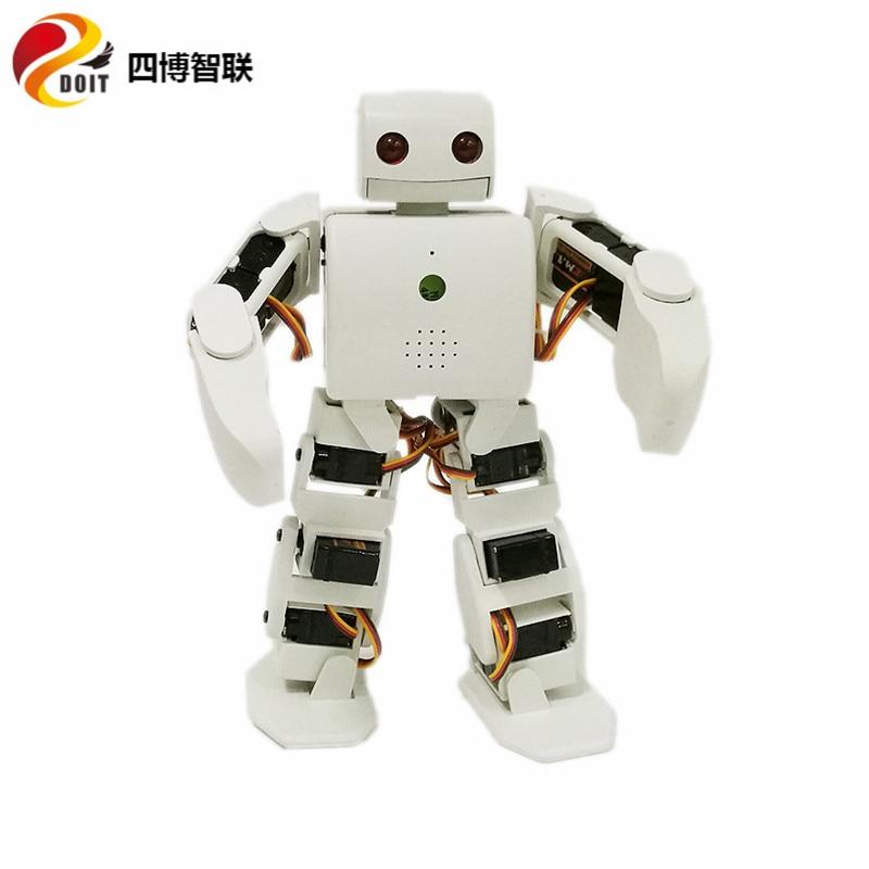 Un ensemble complet de DOIT 18 DOF vivi Humanoïde Robot compatible avec Plen2 pour Arduino plen 2 robotique modèle kit livraison gratuite par DHL