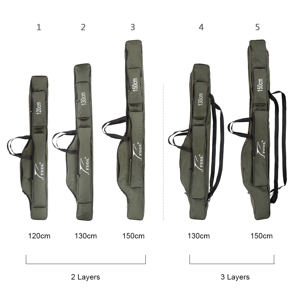 Image 2 - FDDL Portable  Multifunction Fishing Bag  Carrier Canvas 130/150CM Fishing Rod Bags  Two / Three Layer  Storage Case for Pescafishing rod bagrod bagfishing bag -