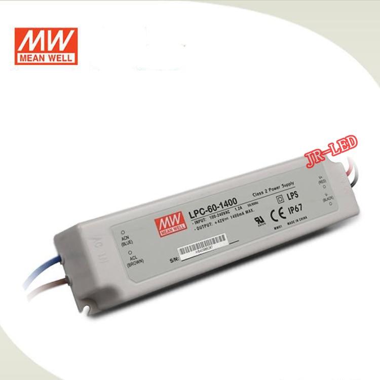 1PCS Taiwan Meanwell 60W LED Waterproof Power Output 9-48V LPC 60 1050/LPC 60 1400/LPC 60 1750mA