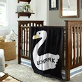 Brand New Black&white 100% Cotton Baby Knitted Swaddle Blanket Sofa Crib Pram Cot Bed 110'x90cm' Baby Blanket