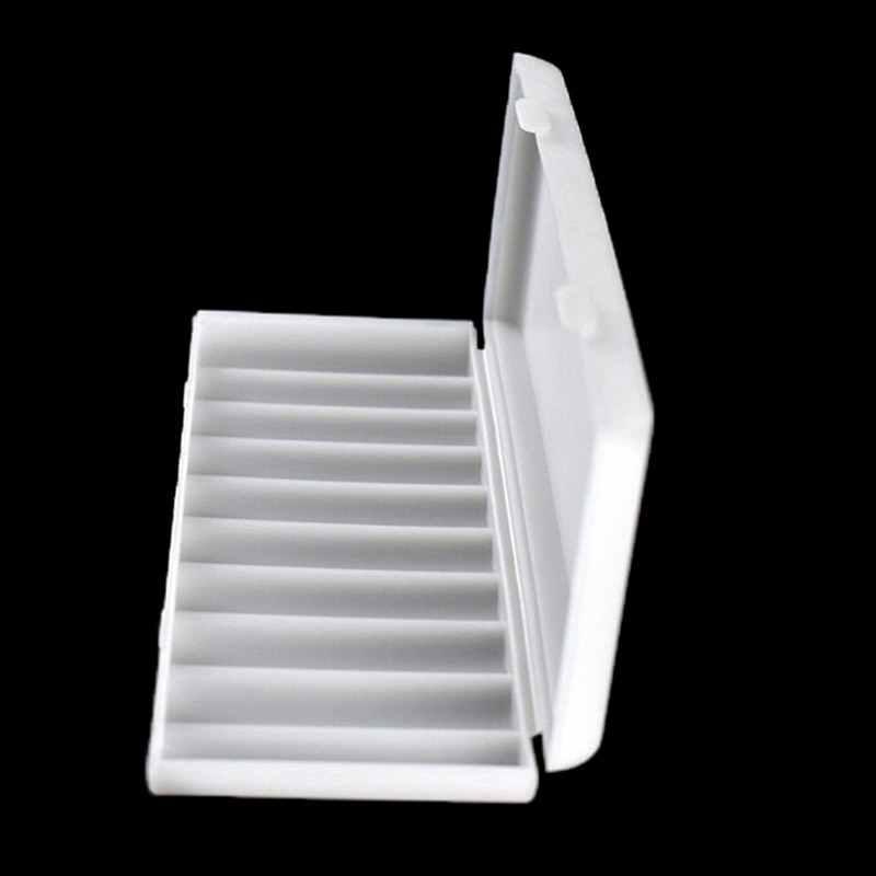 Bianco 1 PC 10X18650 Supporto Della Batteria Caso Organizzatore Container 18650 Scatola di Immagazzinaggio Del Supporto Duro Della Copertura Della Cassa del Supporto Della Batteria