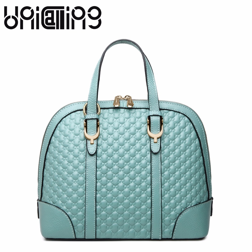 Fashion brand Shell bag Top grade ladies handbags All-match Diamond lattice Genuine Leather women shoulder bags mini women bag mesh open shoulder side ruched lattice top