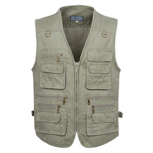 Sleeveless Vest Waistcoat Multi-Pocket Photograph Casual Cotton Summer 6XL Male New 5XL