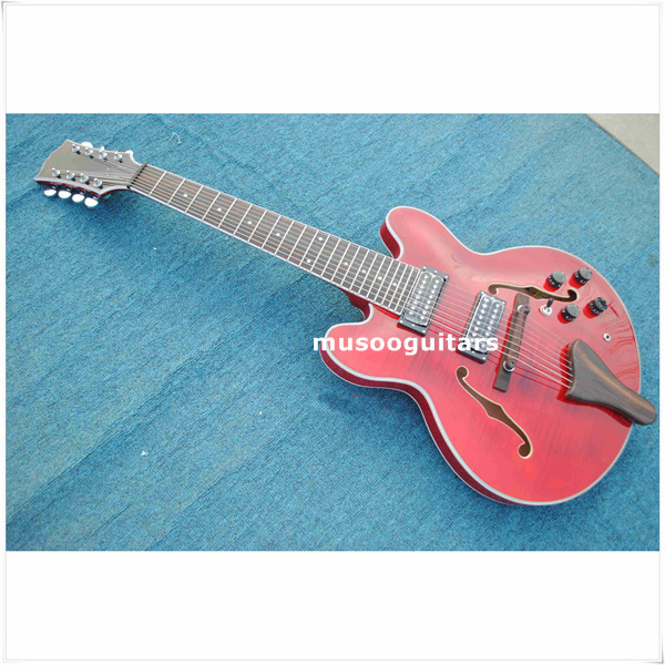 new brand electric 8 string jazz guitar in guitar from sports entertainment on. Black Bedroom Furniture Sets. Home Design Ideas