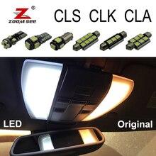 Белый светодиодный светильник без ошибок, внутренняя лампа, купольная карта, комплект для Mercedes Benz CLS CLK CLA class W218 W219 W208 W209 C117