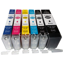 1 Full Set PGI-580XLPGBK CLI-581XLBK CLI-581XLC CLI-581XLM CLI-581XLY CLI-581XLPB ink cartridge With chips