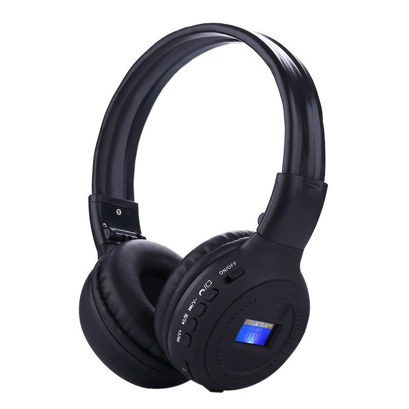 LED Screen Bluetooth Headset Wireless Headphone Earphone with FM Radio Card Player 3 in 1 HIFI Auriculares For Smart Phone PC TV 5 in 1 wireless stereo headset headphone transmitter fm radio for tv dvd mp3 pc l060 new hot