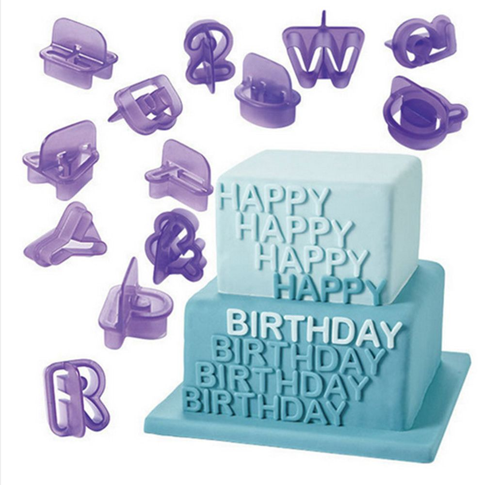 New 40pcs Alphabet Number <font><b>Letter</b></font> Character Fondant <font><b>Cake</b></font> <font><b>Decorating</b></font> Set Cookie Cutter Mold baking <font><b>Cake</b></font> Decoration <font><b>Tools</b></font> image