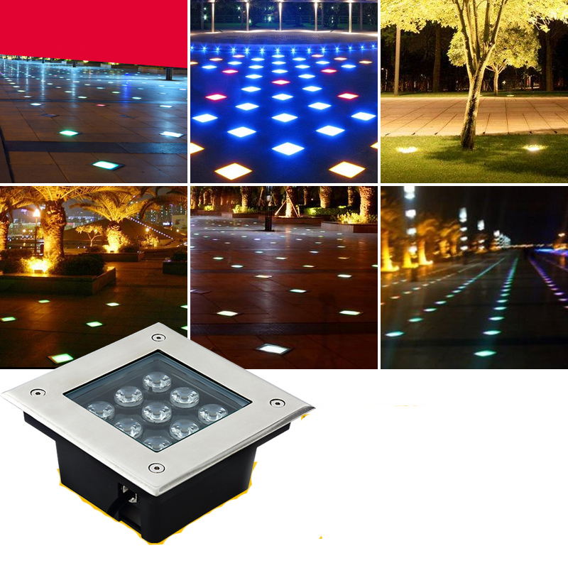 Lights & Lighting Realistic 10pcs 3w 4w 5w 6w 9w12w 16w 24w 36w Square Led Underground Lamps Buried Light Outdoor Light Deck Grondspots Garden Floor Lights Numerous In Variety