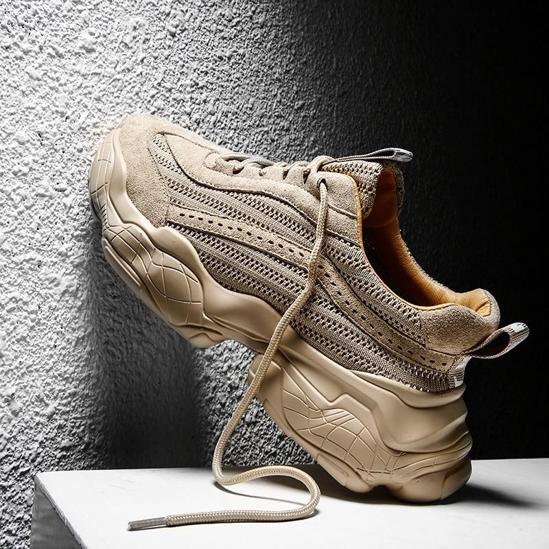 Yrfuot/мужские новые спортивные туфли высокого качества; мужские кроссовки для взрослых; брендовые дышащие легкие кроссовки для бега; Мужская прогулочная обувь