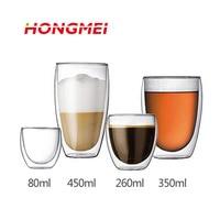 Danish BODUMM Brand Heat Resistant Europe Style Double Wall Glass Coffee Cup Mug Tea Cup Glassware
