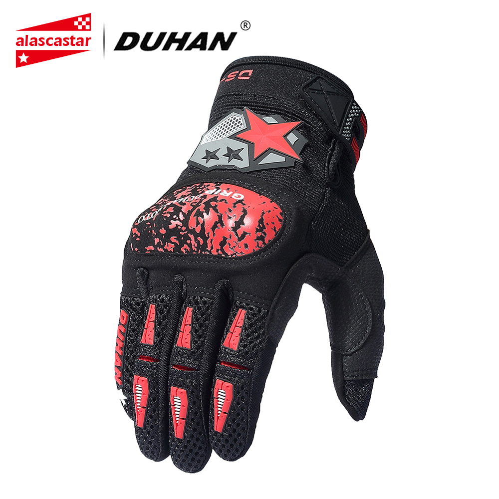 DUHAN Carbon Fiber Motorcycle Gloves Men Motocross Gloves Touch Screen Motorbike Breathable Mesh Racing Guantes Moto Gloves screen touch motorcycle gloves motorbike moto luvas motociclismo para guantes motocross 01c motociclista women men racing gloves