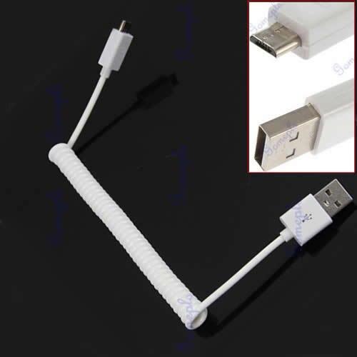 Datenkabel 5 Teile/los Neue Weiß Spirale Coiled Usb Typ A Auf B Micro Sync Daten Ladegerät Adapter Kabel Zubehör Und Ersatzteile
