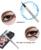 12 unids/set YANQINA Eyeliner Lápiz delineador de Ojos Líquido Impermeable Lápiz delineador de ojos Negro No Blooming Precisión